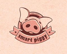 30 Pig Logo Design Ideas That Can Make You Fat