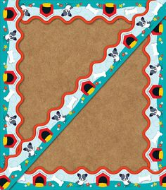 Hot Diggity Dogs Scalloped Borders