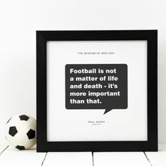 Men's personalised sporting quote prints