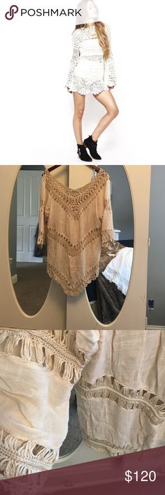 Crochet Coachella Tunic Dress New with out tag - Brand: Vivid Importers of NY (not Stone Cold Fox) Stone Cold Fox Dresses Mini