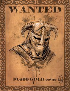 Skyrim Dovahkiin Wanted Notice