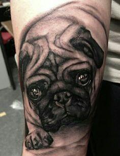 The 12 Coolest Pug Tattoo Designs In The World Bull Tattoos, Animal Tattoos, Life Tattoos, Body Art Tattoos, Dream Tattoos, Tatoos, Tatoo Pug, Mops Tattoo, Pug Art