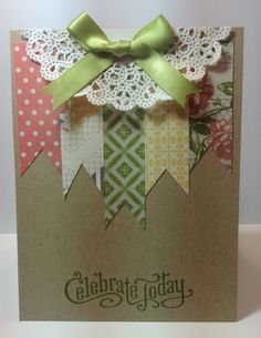 Celebrate Today; this would make a great bag top for a gift wrapping as well as a card.