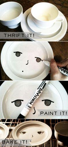 ;) desenhando no prato