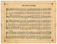 Vintage Sheet Music - The Happy Pilgrim - The Graphics Fairy