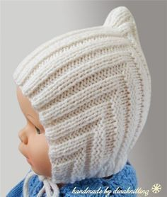Knitted hat for baby Pink knitted hat Acrilic crochet hat Crochet cap for newborn Knitted present for first Birthday Warm pink hood : You can always order any color. Baby Knitting Patterns, Baby Hat Patterns, Baby Hats Knitting, Knitting For Kids, Knitted Hats, Crochet Patterns, Knitting Sweaters, Bonnet Crochet, Crochet Beanie