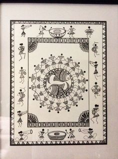 Contemporary Warli, tribal | warli warli painting, how to warli , indian warli painting, warli painting idea, how to make warli painting, indian arts, #warli #warlipainting