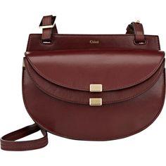 Chloé Georgia Burgundy Leather Crossbody Bag ($1,290) ❤ liked on Polyvore featuring bags, handbags, shoulder bags, burgundy, chloe crossbody, mini crossbody purse, leather crossbody handbags, shoulder handbags and purse crossbody
