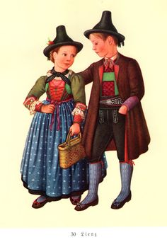 FolkCostume&Embroidery: Costumes of Tyrol