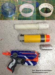 DIY Nerf Firestrike barrel extension mod tutorial parts Airsoft, Modified Nerf Guns, Cool Nerf Guns, Nerf Mod, Mandalorian Cosplay, Steampunk Weapons, Foam Armor, Making Life Easier, Barrel