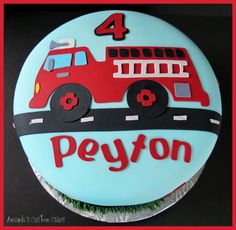 fire trucl cake | Amanda's Custom Cakes: Fire Truck Cake