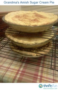 Grandma's Amish Sugar Cream Pie