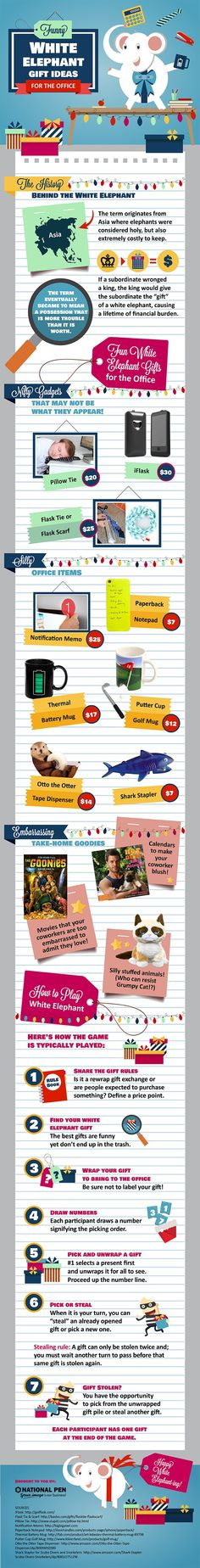 Funniest White Elephant Gift Ideas for Coworkers [Infographic]