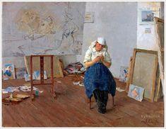 Tatiana Yablonskaya In the Studio 1954