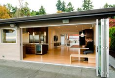 Bi-fold doors with a seamless threshold. I priced these at about $14K installed.