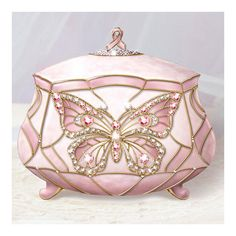 breast cancer music box This pin is in memory and support for all the victims of breast cancer.