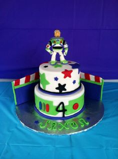 The Buzz Lightyear Cake last week! Everything was edible! #buzz #lightyear #cake