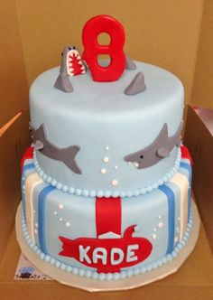 Image result for shark cake