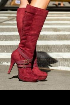 Cute red Boots! I have a pair like this except they are black and wedges