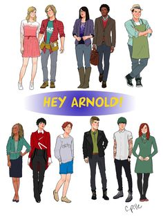 Hey Arnold kids grown up and in their twenties. Individual designs here