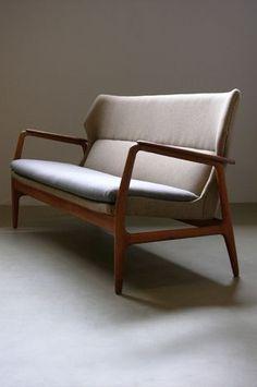 The Modern Warehouse - Furniture - Oak and Teak Sofa by Bovenkamp