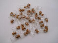 20pc Glass Vials Mini Vial Tiny Vial Small by DIYSuppliesEmporium