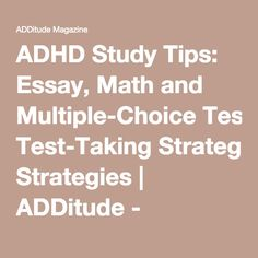 essays about add adhd You are not alone read these essays, diary entries, and snapshots of daily life written by additude readers who are parenting children with adhd, living with adult.