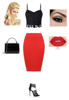 """Untitled #7"" by senadaa-berbic ❤ liked on Polyvore featuring WearAll, Lipsy, Giuseppe Zanotti and Smashbox"