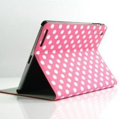 Pink Polka Dot Pattern PU Leather Flip Stand Case / Cover / Skin / Shell for Apple iPad 2/3