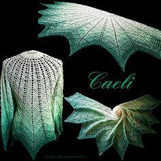 Paid Das Tuch erhält sein schönes Muster durch das Spiel mit den Reliefmaschen.
