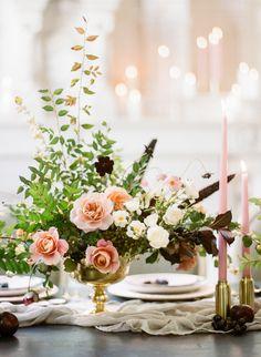 Modern gothic wedding flowers: http://www.stylemepretty.com/2016/11/03/modern-gothic-wedding-inspiration/ Photography: Rebecca Yale - http://rebeccayalephotography.com/