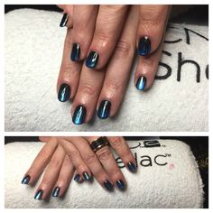#shellactime #blackpool #nailart #bluelectric #chic
