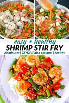 Easy Shrimp Stir Fry with Vegetables - healthy, GF - Bowl of Delicious