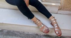 DIANA 6 , Sandals, Leather sandals, Ankle strap silver sandals, Handmade greek sandals by GreeksandalsPenelope on Etsy Rose Gold Sandals, Lace Up Sandals, Gladiator Sandals, Leather Sandals, Women Sandals, Smart Dress, Shoes Too Big, Designer Sandals, Greek Sandals