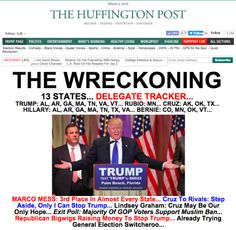 Trump On HuffPost Front Pages