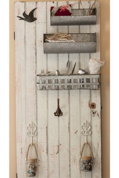 Antique Door Project | The Domestic Wildflower click to see how an antique ranch door was transformed into a functional, farmhouse style workspace. Click through to read the post!