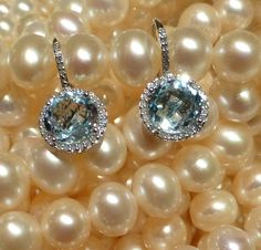 Laura gold blue topaz drop earrings embellished with diamonds. Pair these baby blues with a luscious strand of pearls and look fabulous! Diamond Earrings, Drop Earrings, Blue Topaz, Baby Blue, Blues, Diamonds, Pearls, Gold, Collection