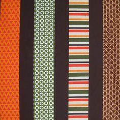 Tissu Just Stripes Brown x 10cm