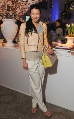 WHO: Lily Kwong  WHAT: Reed Krakoff, Tod's bag, Ruby Kobo jewelry  WHERE: Tod's and Vogue Host the Launch of Claiborne Swanson Frank's book American Beauty, New York  WHEN: March 29, 2012