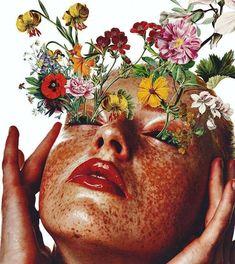 Art Du Collage, Digital Collage, Makeup Collage, Art Collages, Love Collage, Collage Pictures, Collage Ideas, Psychedelic Art, Art Sur Toile