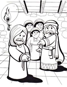 Pilate Condemns Jesus Stations of the Cross coloring page Cross Coloring Page, Jesus Coloring Pages, Farm Animal Coloring Pages, School Coloring Pages, Jesus Crafts, Bible Crafts, Preschool Bible, Bible Activities, Creation Coloring Pages
