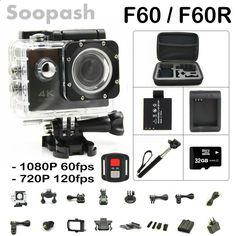 New Arrival Bundle Original F60 F60R Wifi Action Camera 4K Remote Controller Extreme Mini Diving Cam Waterproof Sport Camera