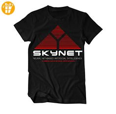 Skynet Logo T-Shirt Herren schwarz XX-Large (*Partner-Link)