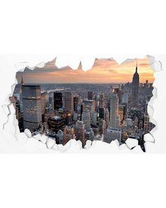 Vinilo para pared rota...New York