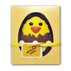Milk Chocolate Hatching Chick £5.99 FREE UK Delivery.  http://www.ragstorichesuk.com/gifts/confectionery/milk-chocolate-hatching-chick-detail