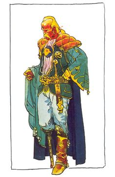 Moebius #Dune - Thufir Hawat - Duke Leto's friend and fencing-master, has a mutant-brain as powerful as a computer.
