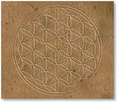 """Osireion de Abydos: la """"Flor de la vida""""."""