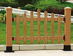 Cerca de WPC, cerca del jardín, cercas compuestas plásticas de ...