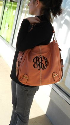 Hey, I found this really awesome Etsy listing at https://www.etsy.com/listing/216502065/monogram-purse-leather-like-font-shown