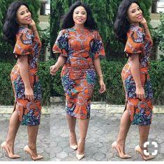 Latest Ankara Dresses 2018 Ideas For African Attire Latest Ankara Dresses, Ankara Short Gown Styles, Latest African Fashion Dresses, African Print Dresses, African Dresses For Women, African Print Fashion, Africa Fashion, African Attire, African Wear